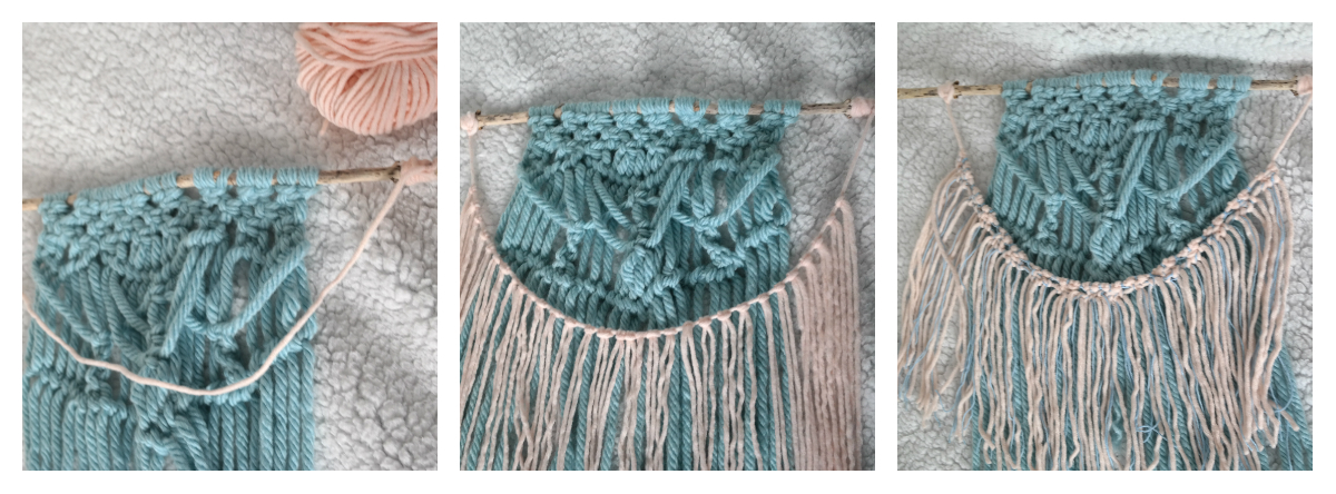 collage macramé